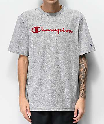Champion Mock Twist Indigo Grey T-Shirt