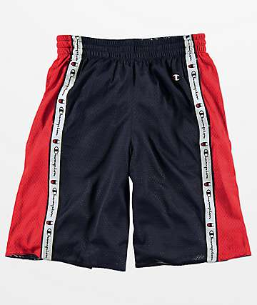 Champion Navy & Red Reversible Mesh Shorts