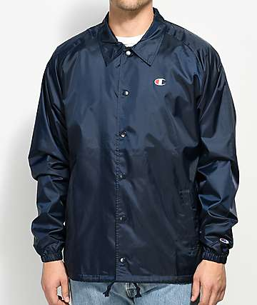 Champion Navy Coaches Jacket