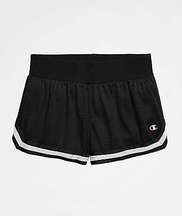 Champion Notch Mesh Black Shorts