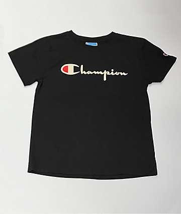 Champion OG Script Black T-Shirt