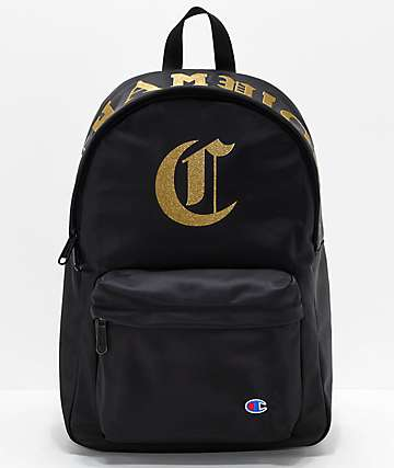 Champion Old C Black Backpack