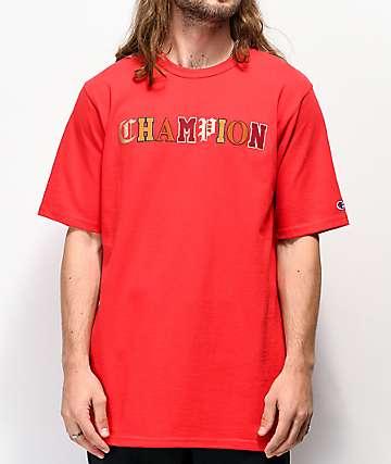 Champion Old English High School Logo Red T-Shirt