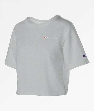 Champion Oxford Grey Crop T-Shirt