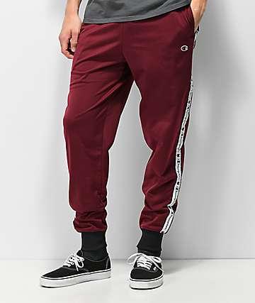 Champion P3378 pantalones de chándal de color borgoña