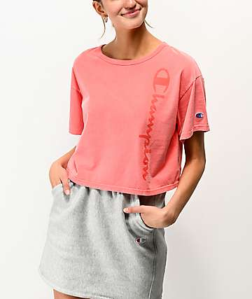 Champion Papaya Pigment Dyed Crop T-Shirt