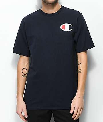 Champion Patriotic C Navy T-Shirt