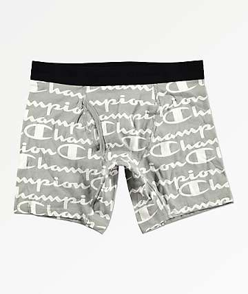 Champion Printed C Script Oxford Boxer Briefs