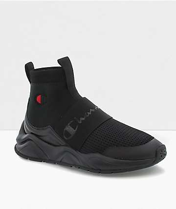 Champion Rally Mono Black Shoes
