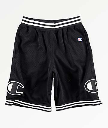 Champion Rec Black Mesh Shorts