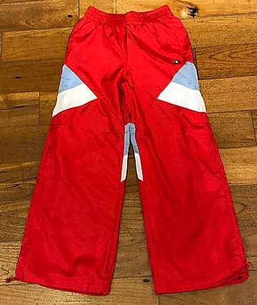 Champion Red Nylon Warm Up Pants