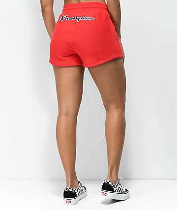 Champion Red Reverse Weave Shorts