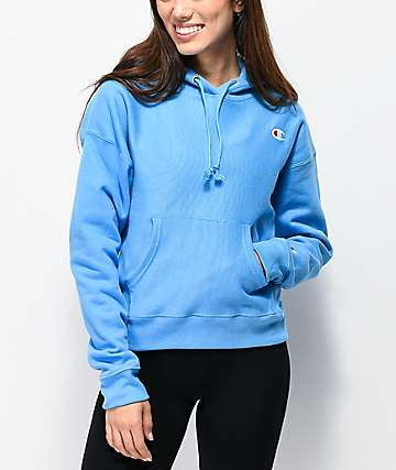 643a1559a4 Champion Reverse Weave Active Blue Hoodie