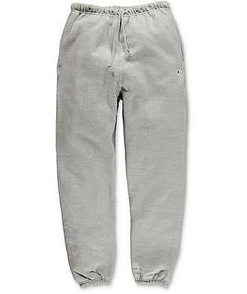 Champion Reverse Weave Banded Bottom Oxford Grey Sweatpants