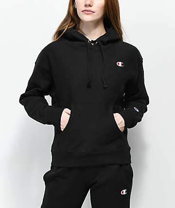 53422cd5847 Champion Reverse Weave Black Hoodie