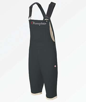 Champion Reverse Weave Black Overall Shorts