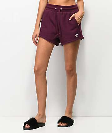 Champion Reverse Weave Burgundy Shorts