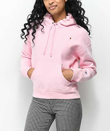 Champion Reverse Weave Candy Pink Hoodie
