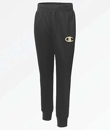 Champion Reverse Weave Chainstitch Black Jogger Sweatpants
