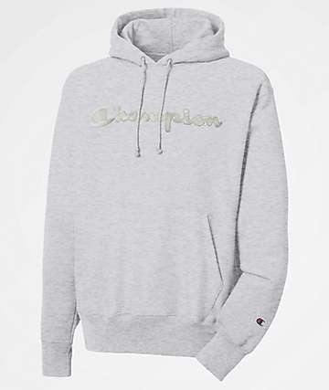 Champion Reverse Weave Chainstitch Heather Grey Hoodie