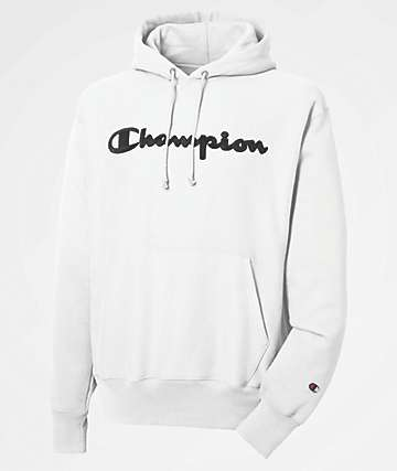 Champion Reverse Weave Chainstitch White Hoodie
