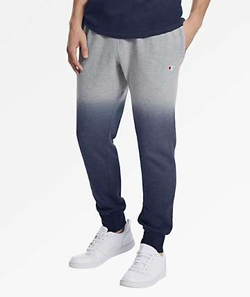 Champion Reverse Weave Dip Dye Indigo & Grey Jogger Sweatpants