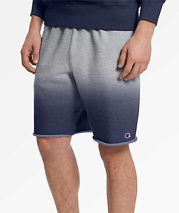 Champion Reverse Weave Dip Dye Indigo & Grey Shorts