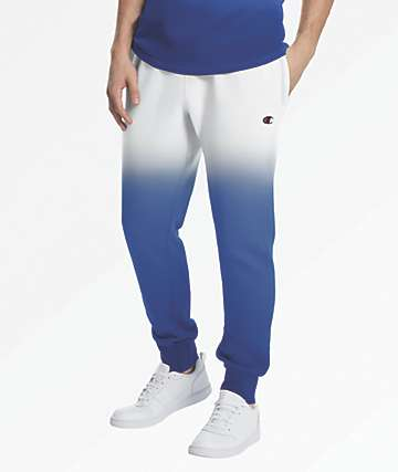 Champion Reverse Weave Dip Dye Royal Blue & Grey Jogger Sweat Pants