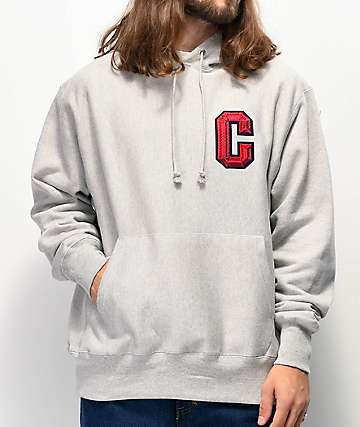 Champion Reverse Weave Floss Stitch C Grey Hoodie