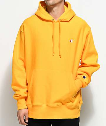 Champion Reverse Weave Gold Pullover Hoodie
