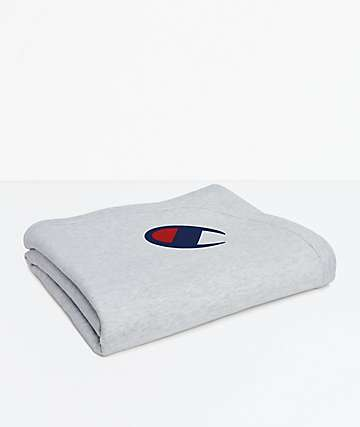 Champion Reverse Weave Grey Blanket