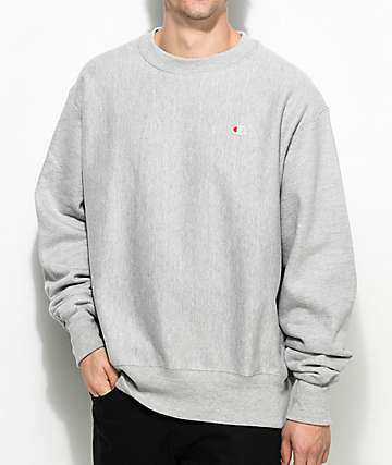 Champion Reverse Weave Grey Crew Neck Sweatshirt
