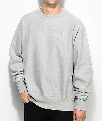 Champion Reverse Weave Grey Crew Neck Sweatshirt