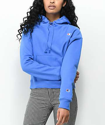 Champion Reverse Weave Groove Blue Hoodie