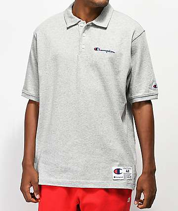 d7090b51 Champion Reverse Weave Heavyweight Gray Polo