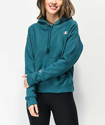 Champion Reverse Weave Jeweled Jade Hoodie