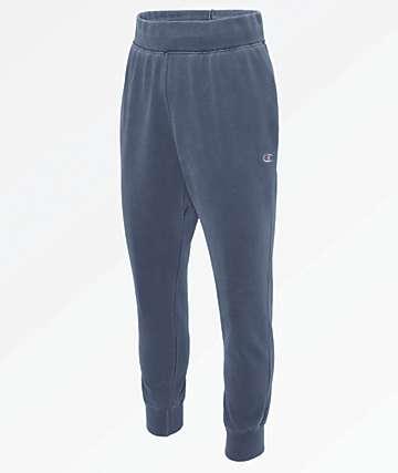 Champion Reverse Weave Pigment Dyed Blue Jogger Sweatpants