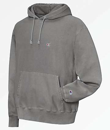 Champion Reverse Weave Pigment Dyed Grey Hoodie