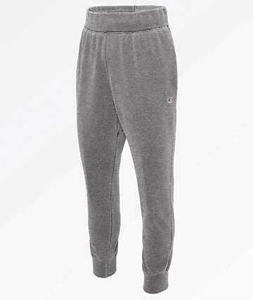 Champion Reverse Weave Pigment Dyed Grey Jogger Sweatpants