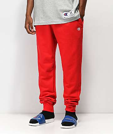 Champion Reverse Weave Red Jogger Pants