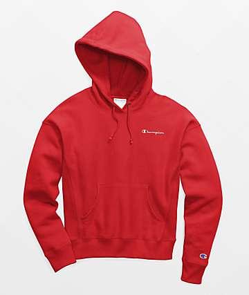 Champion Reverse Weave Scarlet Red Hoodie