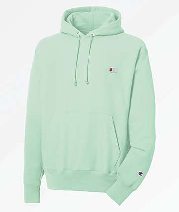 Champion Reverse Weave Small C Wintergreen Hoodie