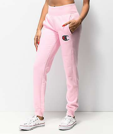 Champion Reverse Weave Sub C Candy Pink Jogger Sweatpants