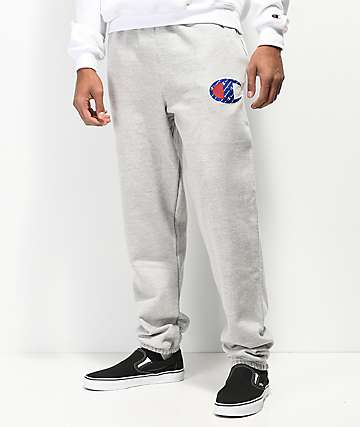 Champion Reverse Weave Sublimated C Logo Grey Sweatpants