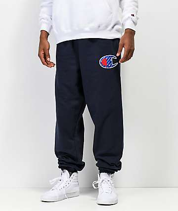 Champion Reverse Weave Sublimated C Logo Navy Jogger Pants