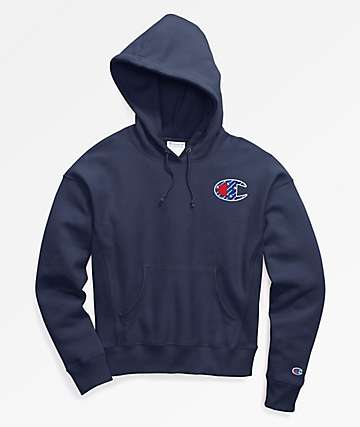 Champion Reverse Weave Sublimated Indigo Hoodie