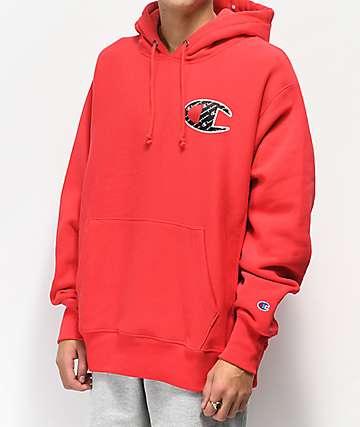 Champion Reverse Weave Sublimated sudadera con capucha roja