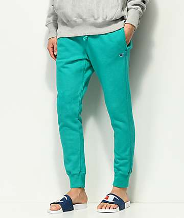 Champion Reverse Weave Turquoise Jogger Sweatpants