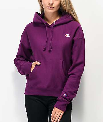 Champion Reverse Weave Venetian Purple Hoodie