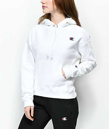 46d1f44f352 Champion Reverse Weave White Hoodie